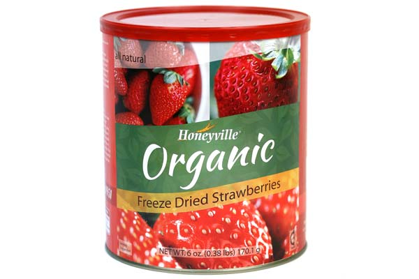 Freeze Dried Organic Strawberries Can